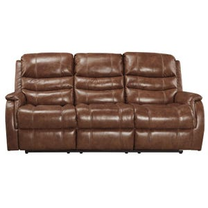 Ashley Metcalf Nutmeg Power Reclining Leather Sofa
