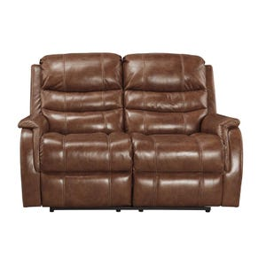 Ashley Metcalf Nutmeg Power Reclining Leather Loveseat