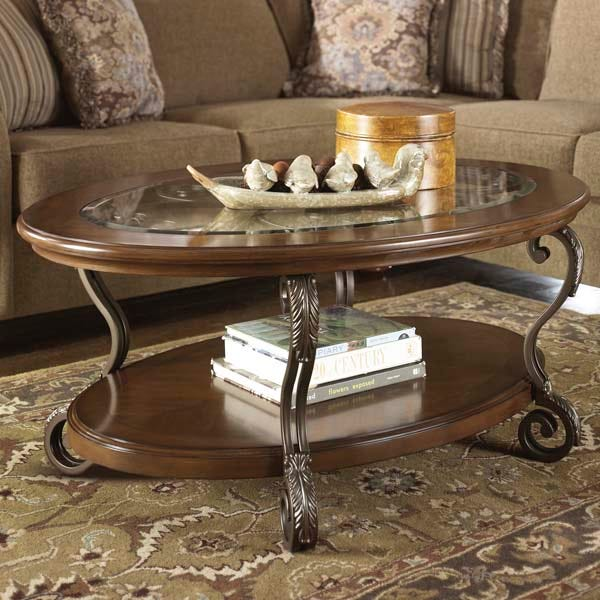 Nestor Iron And Glass Oval Coffee Table Weekends Only Furniture