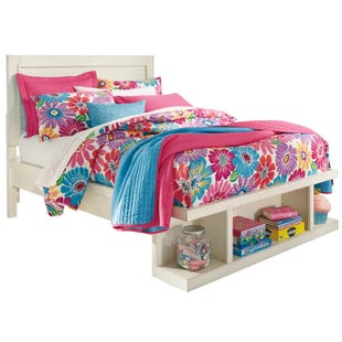 Blinton White Full Storage Bed