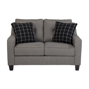 Button Back Brindon Loveseat Gray