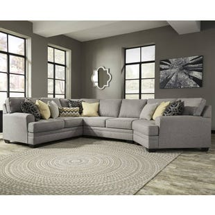 Ashley Cresson Gray Sectional with Cuddler