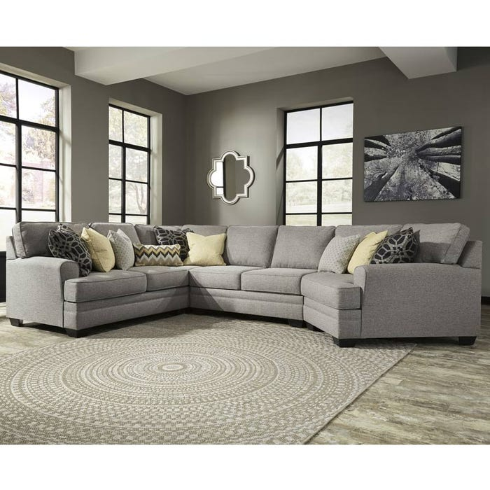 Ashley Cresson Gray Sectional With Cuddler Weekends Only Furniture
