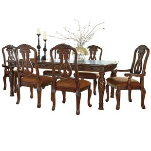 North Shore 7 Piece Dining Set with Upholstered Seating