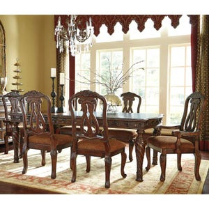 North Shore 9 Piece Dining Table with Upholstered Seating