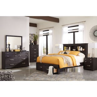 Ashley Reylow Brown Worn Paint King Storage Bedroom Set
