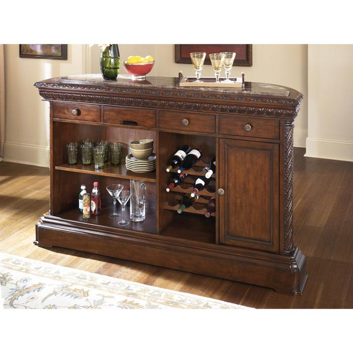 Ashley Norths Clic Bar With Wine Storage Weekends Only Furniture