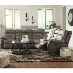 Ashley Hacklesbury Brownstone Power Reclining Sectional