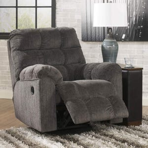 Acieona Gray Swivel Rocker Recliner