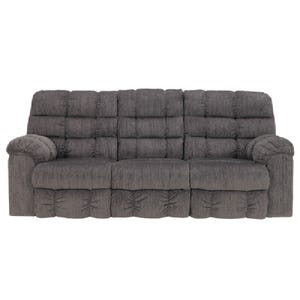 Ashley Acieona Gray Reclining Sofa with Drop-Down Table