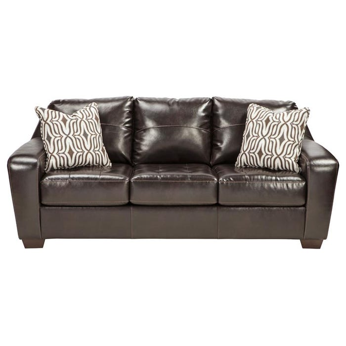 Ashley Coppell Dark Brown Bonded Leather Sofa | Weekends Only Furniture