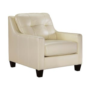 Ashley O'Kean Cream Leather Chair