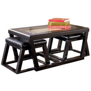 Kelton Coffee Table W/Ottomans