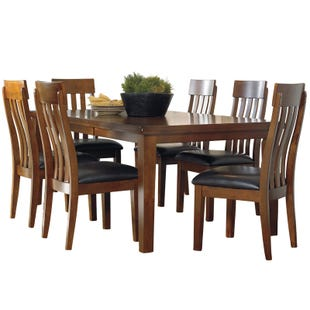 Ralene 7 Piece Brown Rustic Distressed Dining Set