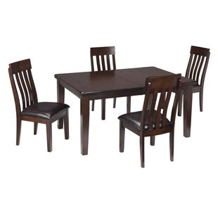 Ralene Espresso 5 Piece Contemporary Dining Set