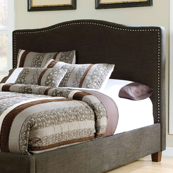 finest selection 81176 bda9a Audrey King Upholstered Headboard with Nailhead Trim