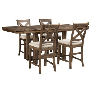 Ashley Moriville 5 Piece Counter Height Rustic Dining Set