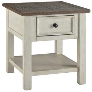Ashley Bolanburg White/Brown End Table