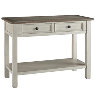 Bolanburg White and Brown 2 Drawer Sofa Table