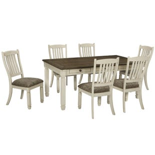Ashley Bolanburg 7 Piece White Farmhouse Dining Set