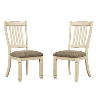 Ashley Bolanburg White Farmhouse Set of 2 Dining Chairs