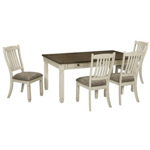 Bolanburg 5 Piece White Farmhouse Dining Set