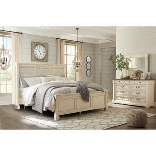 Bolanburg White Queen Farmhouse 3 Piece Bedroom Set