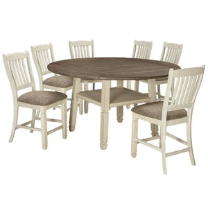 Bolanburg 7 Piece Round Drop Leaf Dining Set