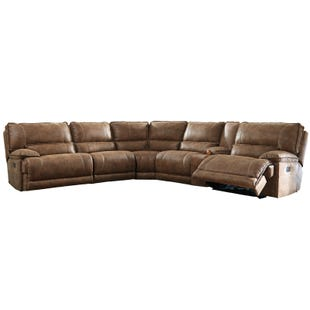 Ashley Grattis Saddle Power Reclining Sectional