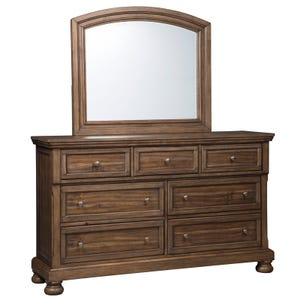 Flynnter 2 Piece Dresser and Mirror
