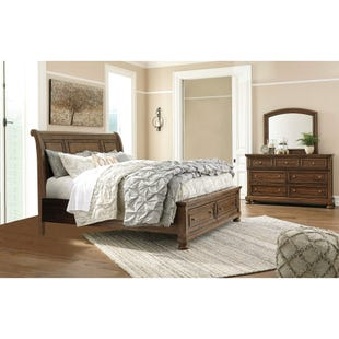 Flynnter King Storage Sleigh 3 Piece Bedroom Set