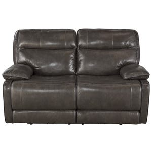 Ashley Palladum Metal Leather Power Reclining Loveseat