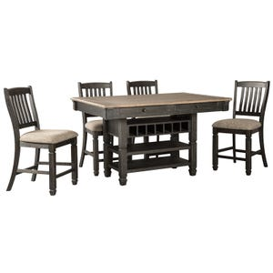 Bolanburg 5 Piece Antique Black Counter Height Dining Set