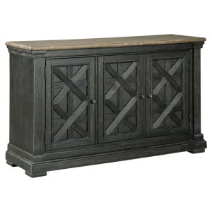 Tyler Creek Antique Black Weathered Oak Dining Server