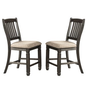 Bolanburg Black Upholstered Set of 2 Counter Height Stools