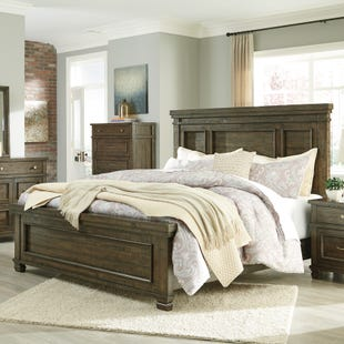 Ashley Darloni Weathered Gray/Brown King Bedroom Set