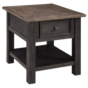 Ashley Tyler Creek Brown and Black End Table
