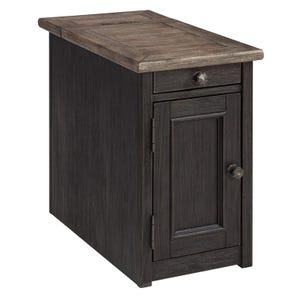 Ashley Tyler Creek Brown and Black Chairside Table