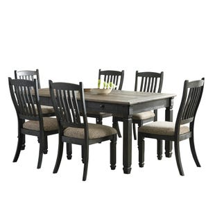 Bolanburg 7 Piece Dining Set Black and Gray