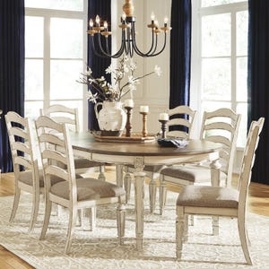 Ashley Bealyn Antique Two-Tone Distressed 7 Piece Dining Set