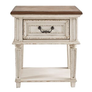 Ashley Lynnea Antique White Two-Tones One Drawer Nightstand