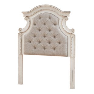 Lynnea Antique White Twin Upholstered Headboard