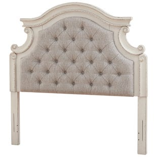 Ashley Lynnea Antique Two Toned White Upholstered Headboard