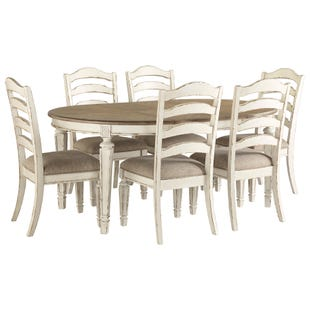 Ashley Bealyn Antique Two-Tone Distressed 9 Piece Dining Set