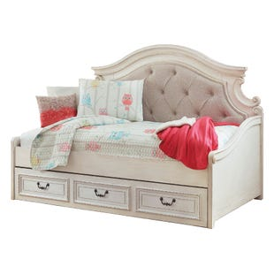 Ashley Realyn Cream Storage Day Bed