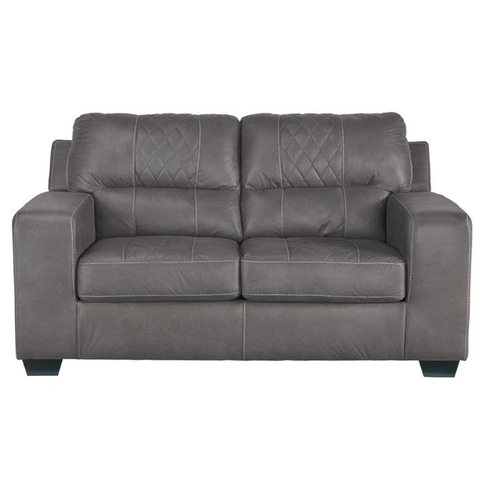 Excellent Quilted Cullen Loveseat Gray Creativecarmelina Interior Chair Design Creativecarmelinacom