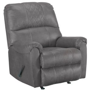 Quilted Cullen Recliner Gray