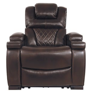 Dual Power Warnerton Recliner Brown