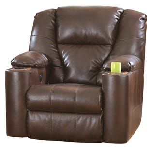 Ashley Paramount Brown Bonded Leather Power Recliner