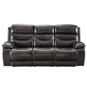 Ashley Pillement Top Grain Leather Power Sofa and Headrest